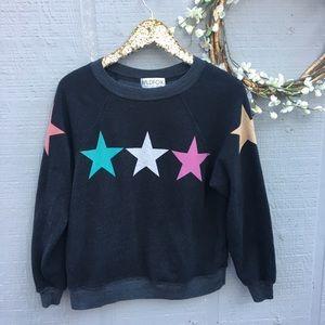 Wildfox crewneck stars sweatshirt. Size XS.